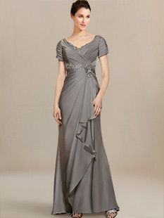 couture mother of the bride dresses_Charcoal