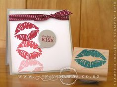 "I wanted a ""kiss"" stamp for a project, so out came my UNDEFINED Stamp Carving Kit and here's what I carved.  www.creativestamping.co.nz 
