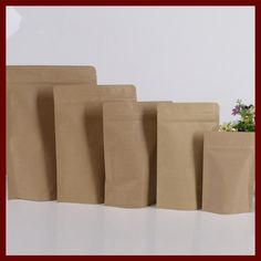 Find More Packaging Bags Information about 9*14+3 10pcs brown self zip lock kraft paper bags stand up for gifts sweets and candy food tea jewelry retail package paper,High Quality paper dust bag,China bag product Suppliers, Cheap paper bag arts and crafts from Fashion MY life on Aliexpress.com