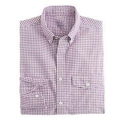 Slim lightweight vintage oxford cloth shirt in summertime gingham