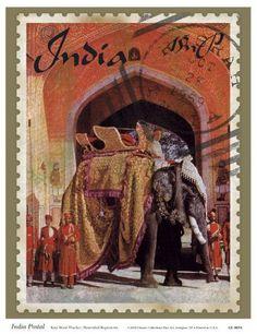Vintage stamp art
