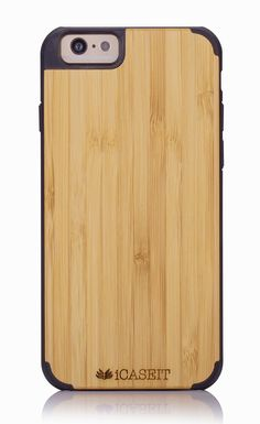 "iCASEIT Wood iPhone Case - Genuinely Natural, Unique & Premium quality for iPhone 6 (4.7"" Display) - Bamboo / Black: Amazon.co.uk: Electronics"