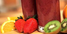 Grape smoothie. For a healthy juice that also tastes great, try this recipe packed full of fruit.