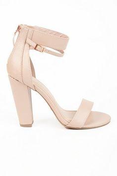 Nude Heels Nude Shoes, Pink Heels, Shoes Heels, Pumps, Ankle Strap Heels, Ankle Straps, Shoes For School, Swag Shoes, Nude Wedges