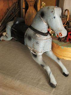 Antique folk art horse.