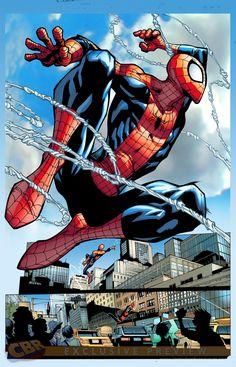 Amazing Spider-Man #1 interior art by Humberto Ramos, colours by Edgar Delgado *