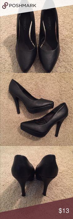 Black heels H&M black heels. Worn once - excellent condition H&M Shoes Heels