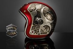Custom motorcycle helmet STEAMPUNK 2, Ruby Pavillon Voltaire ...