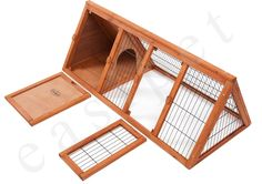 "Wooden 1180mm Rabbit Guinea Pig Hutch 46"" Portable Wood Pet House Easipet 385"