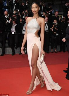 Supermodel Chanel Iman All the Glamour, Glitz and Gowns from the Cannes 2016 Red Carpet Celebrity Red Carpet, Celebrity Dresses, Celebrity Style, Chanel Iman, Backstage, Red Carpet Looks, Red Carpet Dresses, Cannes Film Festival, Red Carpet Fashion