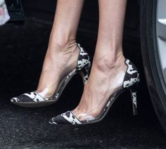 """News Photo : Meghan, Duchess of Sussex, shoe detail, visits Smart Works. Gianvito Rossi """"Plexi"""" Cow Print Pumps / sold out - Shop Similar). First seen in 2015 for Gritty Pretty photoshoot. Duchess Kate, Duke And Duchess, Suits Mike And Rachel, Sussex, Meghan Markle Style, Royal Engagement, Prince Harry And Meghan, Princess Charlotte, Cow Print"""