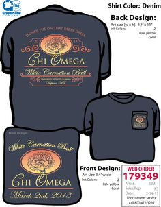 Chi Omega White Carnation Ball Sorority shirt