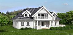 Norske Hus - Ambassadør - Perspektiv Vinduer og terrassedør. Home Fashion, Exterior Design, Norway, House Plans, Sweet Home, Villa, New Homes, Floor Plans, Cottage