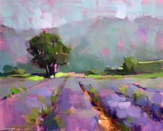 The Lavender Field by Trisha Adams ~ 20 x oil on canvas, from a trip to Provence. canvas art, canvas banner, photo canvas diy Lavender Field by Trisha Adams ~ 20 x oil on canvas, from a trip to Provence. Abstract Landscape Painting, Watercolor Landscape, Landscape Art, Landscape Paintings, Art Paintings, Abstract Art, Portrait Paintings, Watercolor Artists, Indian Paintings