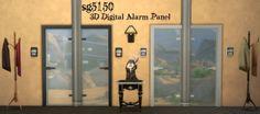 3D Digital Alarm Panel at SG5150 via Sims 4 Updates