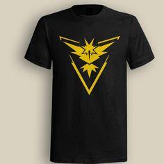 Team Instinct Pokemon Go Black T shirt, T shirt for Men, Women, Girl, Boy, XS, S, M, L, XL, XXL, 3XL,  Size, Customized