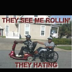 THEY SEE ME ROLLIN' THEY HATING TRYING TO CATCH ME RIDING DIRTY ! They See Me Rollin, Have A Laugh, My Ride, Dog Walking, Hate, Lol, Anime, Cartoon Movies, Anime Music