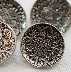 Vintage Buttons  Cool German Crest Military or by queenartist1, $5.00