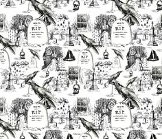 x_mystery_toile fabric by mcuetara on Spoonflower - custom fabric
