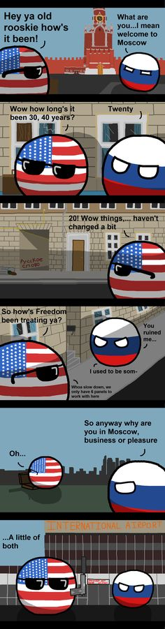 To Russia with love ( Russia, USA ) by Burnttoaster10  #polandball #countryball