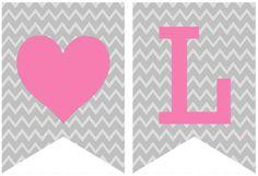 Valentine Pennant Banner printable