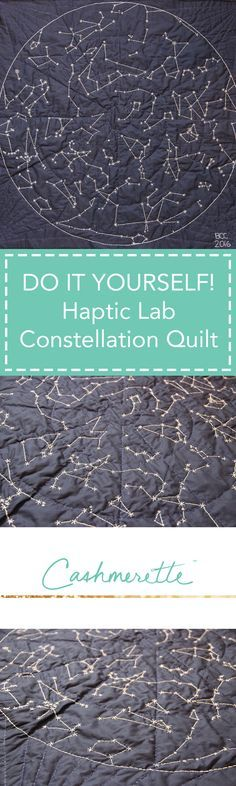 Sewing Projects DIY Constellation Hand Quilt by Cashmerette - Sewing the northern hemisphere constellation quilt from Haptic Lab Fabric Crafts, Sewing Crafts, Sewing Projects, Constellation Quilt, Quilt Patterns, Sewing Patterns, Quilting Ideas, Tatting Patterns, Hobbies To Try