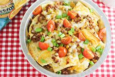 Sloppy Joes Nachos with Tostitos Tortilla Chips-i