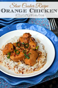 Orange Chicken made in the crockpot, Slow cooker Orange Chicen recipe. Quick Easy and taste great