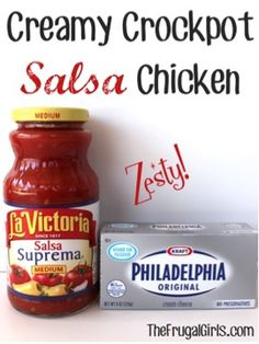You'll love this easy Crockpot Chicken Salsa Recipe! Just a few easy ingredients, and you've got a delicious south of the border dinner full of zesty kick!