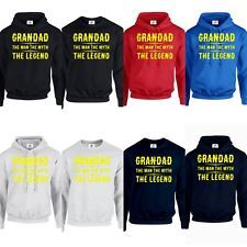 Grandad The Man The Myth The Legend HOODIE JUMPER DAD FATHERS DAY gift (LEGEND)