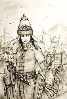 Ilkay Kathun of Ural Khaganligi (Turko-Altaic) by Gambargin.deviantart.com on @DeviantArt