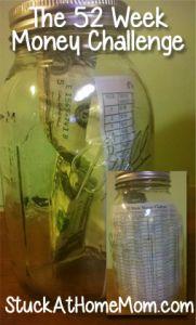 The 52 Week Money Challenge - you game? #52weekmoneychallenge - StuckAtHomeMom.com