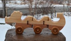 Our wood toys are hand crafted one at a time in our shop. These toys are made in a simple, safe, durable, and classical design to encourage imagination and creativity in children. Wooden Toys For Toddlers, Toddler Toys, Toys For Boys, Kids Toys, Handmade Wooden Toys, Wooden Crafts, Push Toys, Action Toys, Sea Dragon