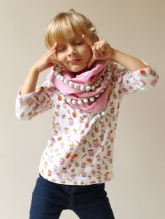 Briar Rose Tee + Pompom scarf | Flickr - Photo Sharing! Made by Rae
