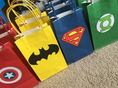 Superhero Party Gift/ Favor Bags by BellaEventsStore on Etsy