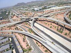 Aerial Photo of SR101 and I-17, Phoenix, Arizona
