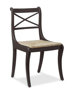 William Sonoma Home, Madeleine Side Chair, Dark Walnut Luxury Home Furniture, Furniture Sale, Furniture Chairs, White Furniture, Handmade Furniture, Painted Furniture, Furniture Design, White Kitchen Chairs, Kitchen Dining