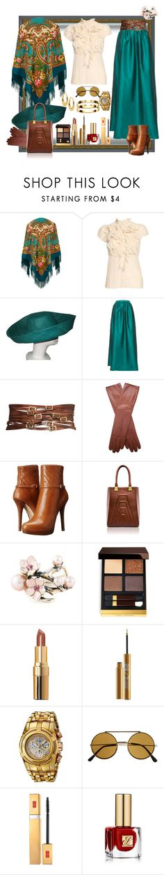 """""""Cherry Orchard"""" by ritva-harjula ❤ liked on Polyvore featuring Saint Tropez, Topshop, P.A.R.O.S.H., MICHAEL Michael Kors, Kristina George, Shaun Leane, Tom Ford, Bobbi Brown Cosmetics, Urban Decay and Invicta"""
