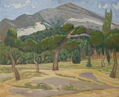 'Penteli Landscape' by Constantine Maleas Turkey) Greek Paintings, Museum, Post Impressionism, 10 Picture, Greek Art, Art Database, Conceptual Art, Artist Art, Art Reproductions