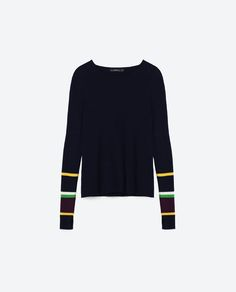 Image 8 of STRIPED HEM SWEATER from Zara