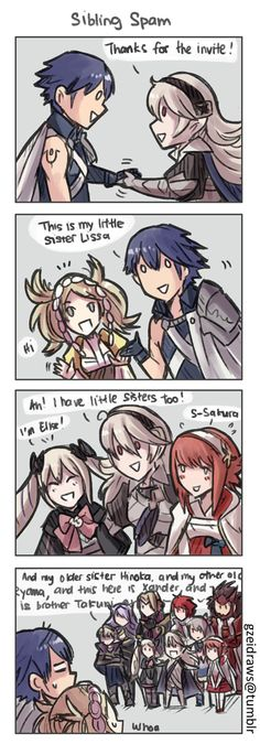Chrom: …I hope I prepared enough food (≡ω≡;) Crossover Awakening x Fates 4koma 29 Find the rest here