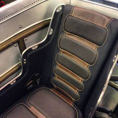 Seats are bolted in! Thought I'd be done early tonight but just brewed a new pot of performance enhancing coffee so I guess that's out! Custom Car Interior, Truck Interior, Interior Design, Automotive Upholstery, Car Upholstery, Bomber Seats, Metal Shaping, Metal Fabrication, Custom Cars