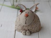 Casas de campo conejo de cerámica Hilde rábano