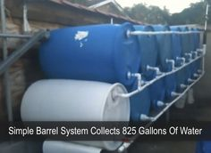 Simple Rain Barrel System Collects 825 Gallons of Water - Off Grid World