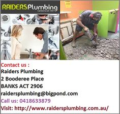 Emergency Plumbers in Canberra -  Raiders Plumbing is working with a huge team of experienced Emergency #Plumbers in Canberra ensuring clients to achieve reliable plumbing support during emergency. You can reach us for entire kitchen and bathroom renovations including replacement, repair and maintenance of split pipes, relief valves and drain dig-ups by expert plumbers. Address: 2 Booderee Place, BANKS ACT 2906 Ph.No. 0418633879
