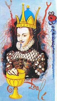 Queen of Cups - Salvador Dalì Universal Tarot