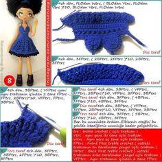 Амигуруми. Куколка Мулатка крючком (11)