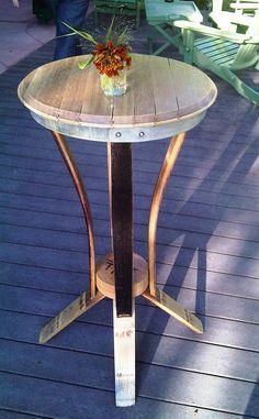 Wine barrel table, Missoula, Montana