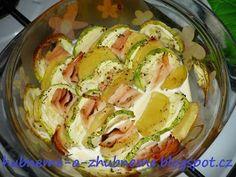 Dobroty od Adele :): Zapečená cuketa (272 kcal) Potato Salad, Cabbage, Potatoes, Meat, Chicken, Vegetables, Ethnic Recipes, Food, Potato