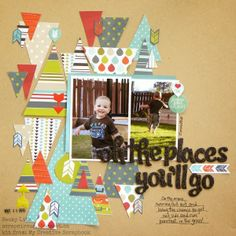 My Creative Scrapper June Creative Kit created by Becky Litz. Multi Photo, My Scrapbook, Scrapbook Layouts, Memory Books, Creative Sketches, Layout Inspiration, Page Layout, Oh The Places You'll Go, Kids Rugs